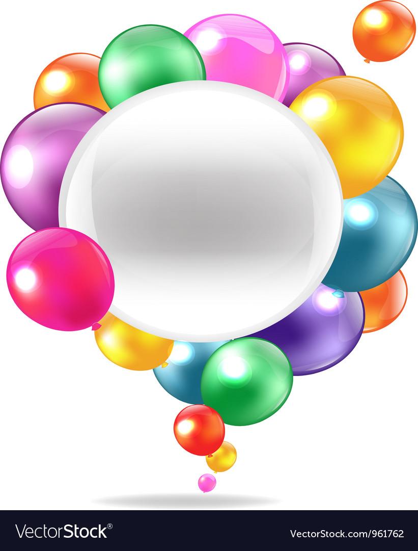 Balloons speech bubble vector | Price: 1 Credit (USD $1)