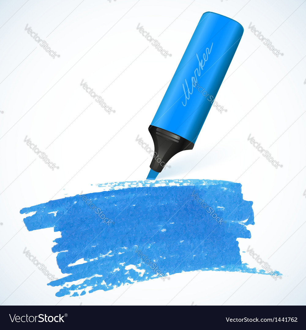 Blue marker with drawn spot vector | Price: 1 Credit (USD $1)