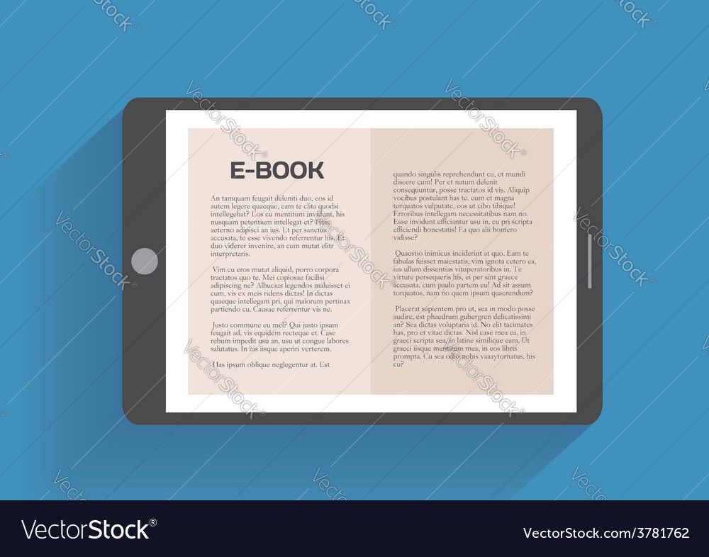 Electronic book flat design concept vector | Price: 1 Credit (USD $1)