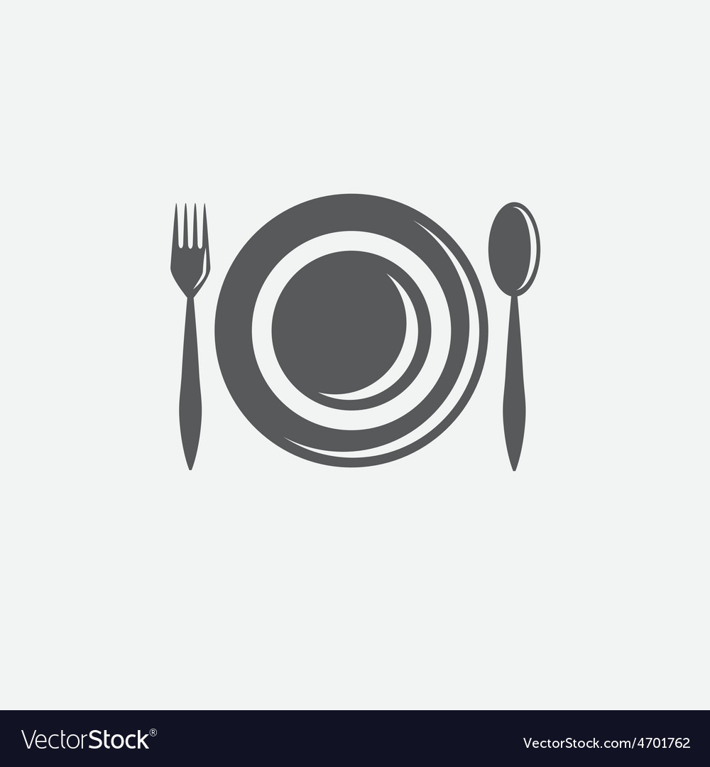 Forkspoon and plate design template vector | Price: 1 Credit (USD $1)