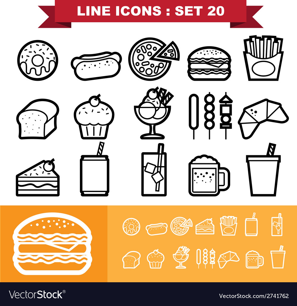 Line icons set 20 vector | Price: 1 Credit (USD $1)