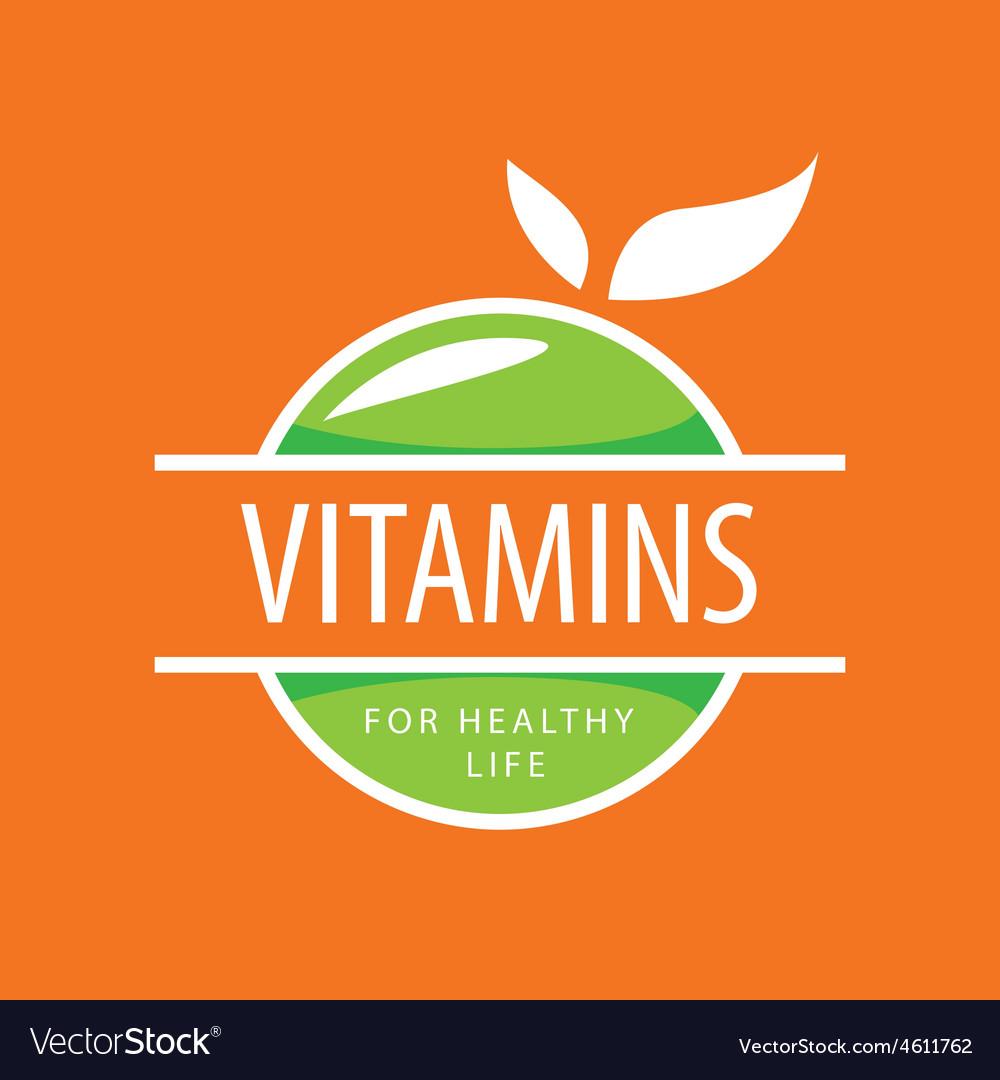 Logo vitamins green apples vector | Price: 1 Credit (USD $1)