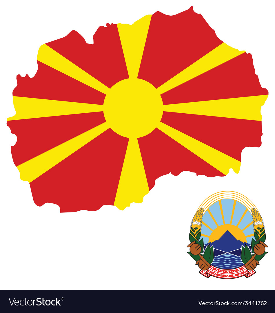 Macedonia flag vector | Price: 1 Credit (USD $1)