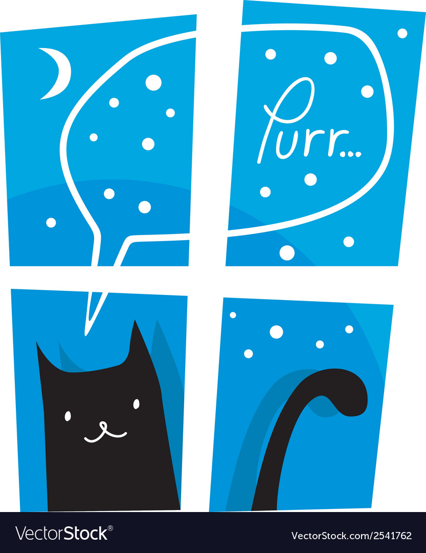 Purring cat vector | Price: 1 Credit (USD $1)