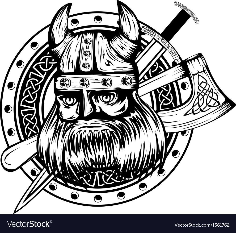 Viking board sword and axe vector | Price: 1 Credit (USD $1)