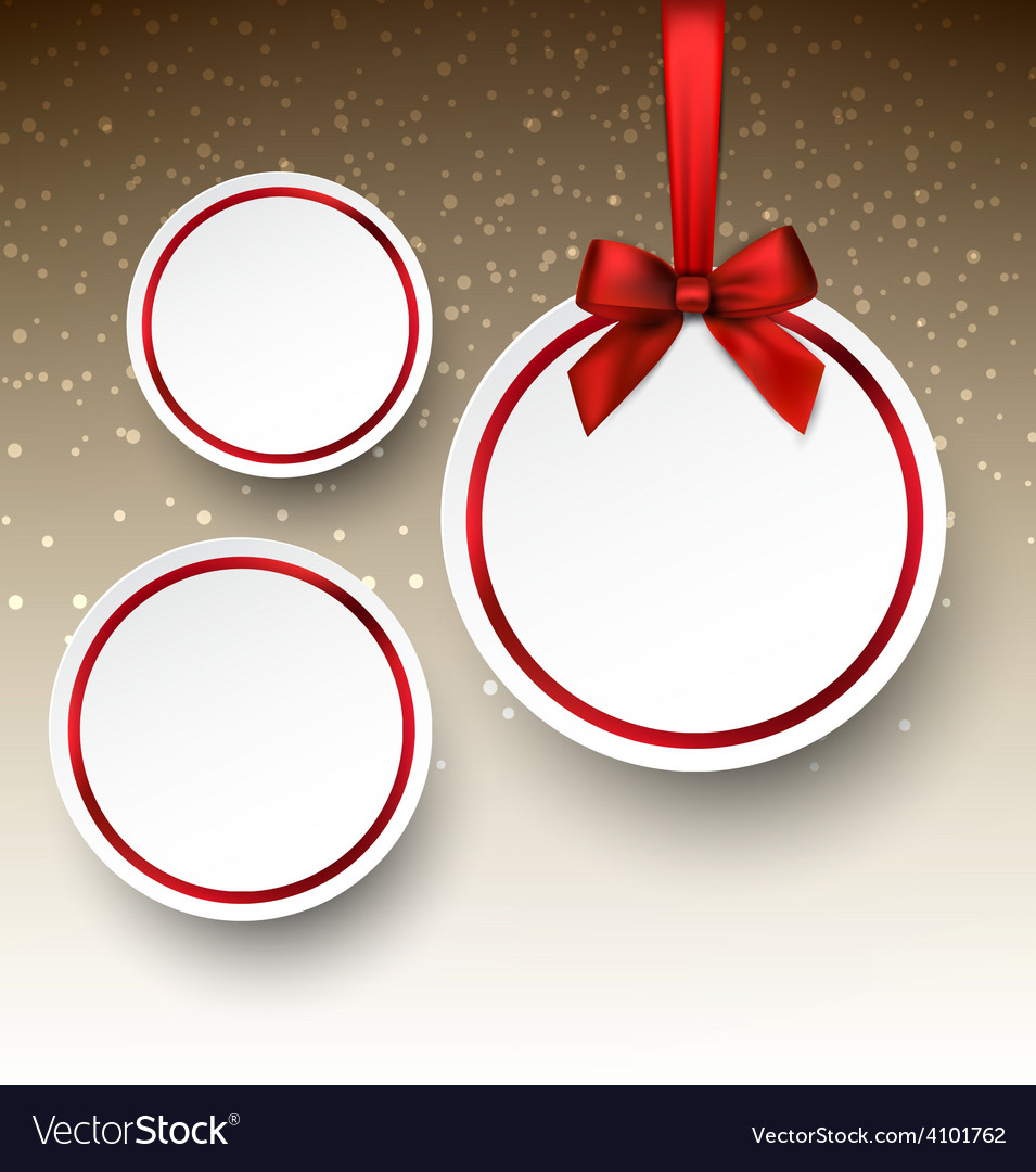 White paper round holiday labels vector | Price: 1 Credit (USD $1)