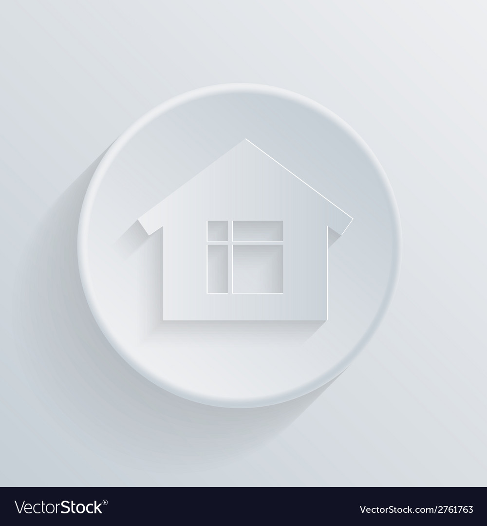 Circle icon with a shadow home vector | Price: 1 Credit (USD $1)