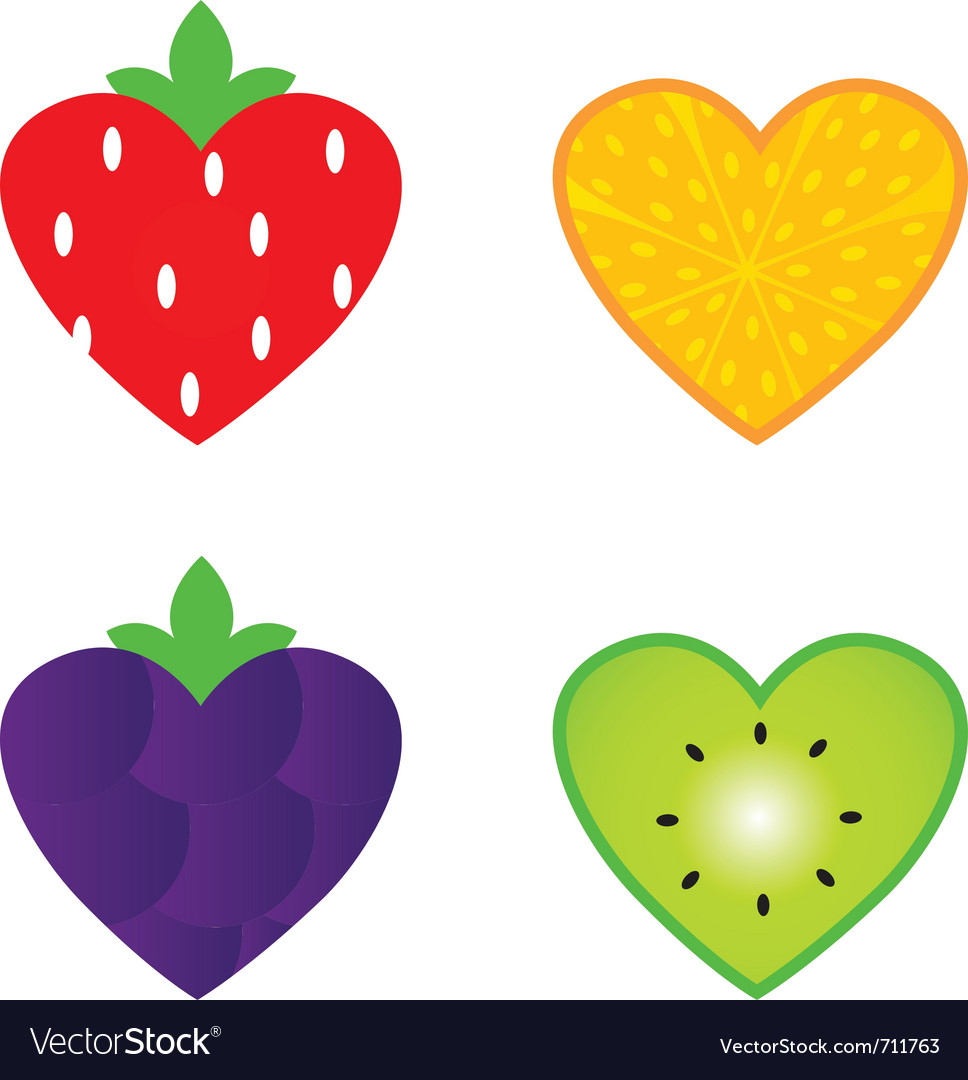 Heart shaped fruit vector | Price: 1 Credit (USD $1)