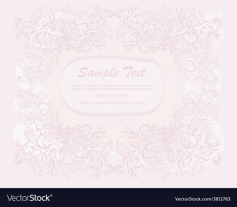 Romantic invitation card vector | Price: 1 Credit (USD $1)