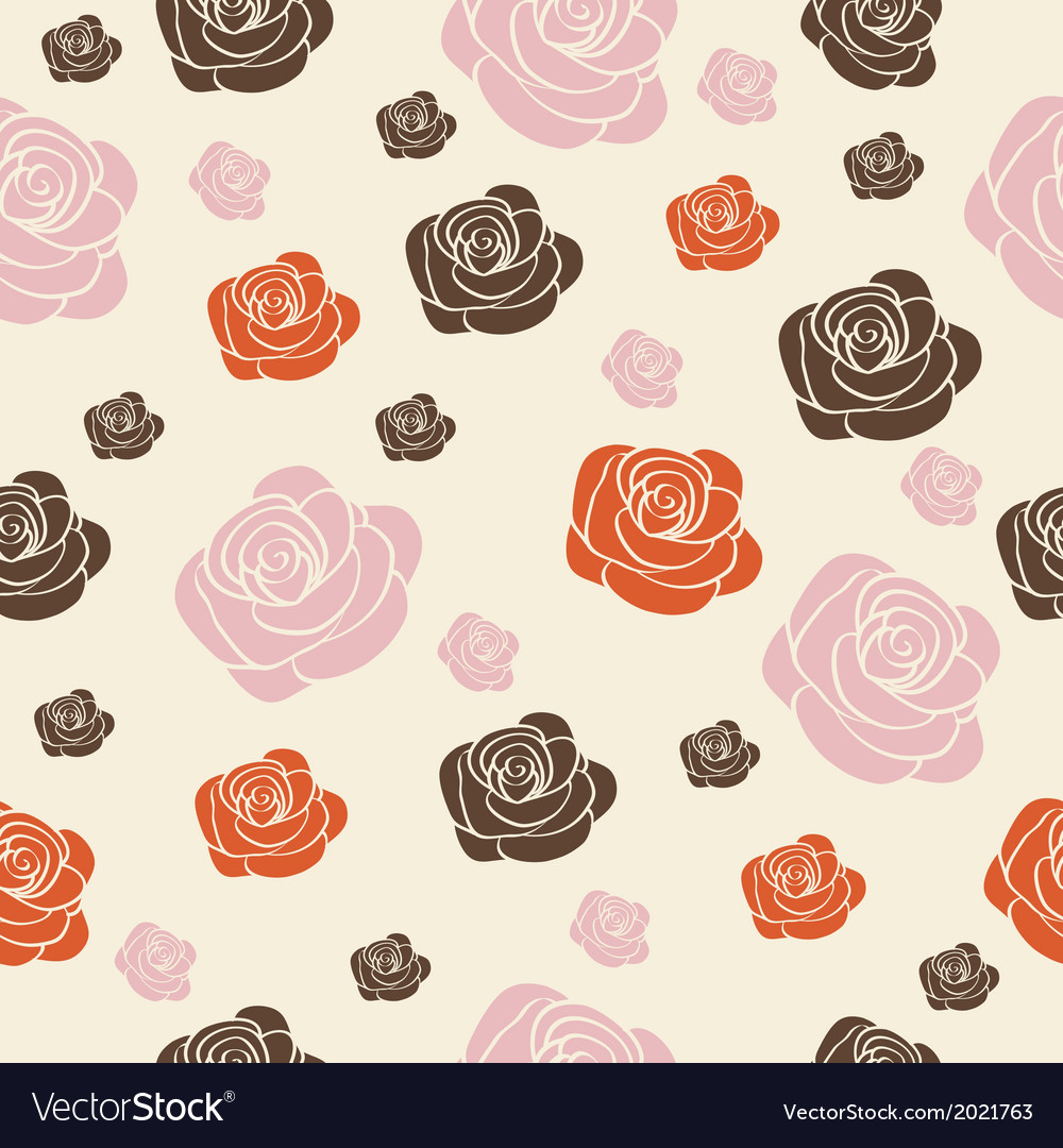 Seamless with roses vector | Price: 1 Credit (USD $1)