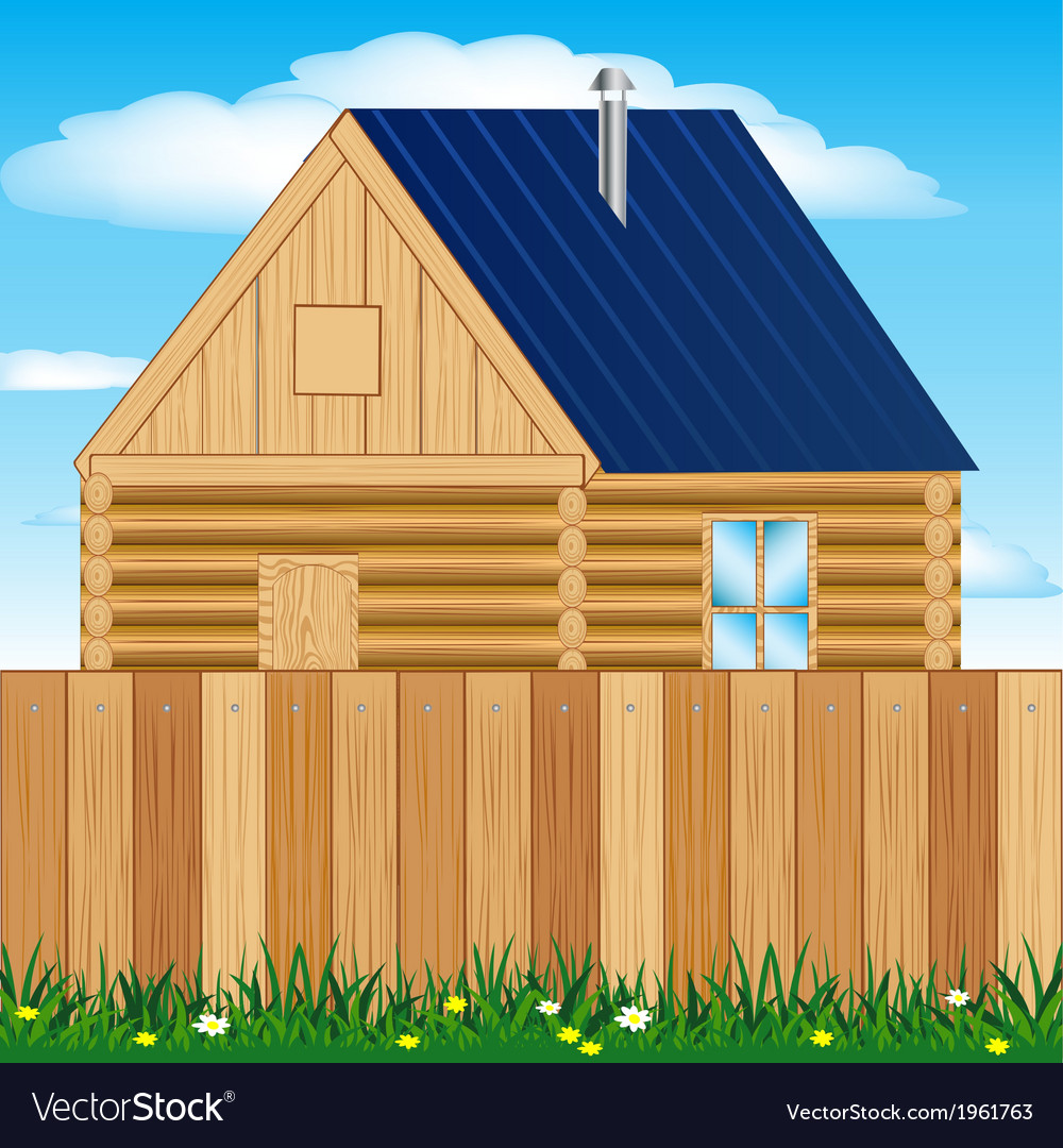 Solitary house on nature vector | Price: 1 Credit (USD $1)
