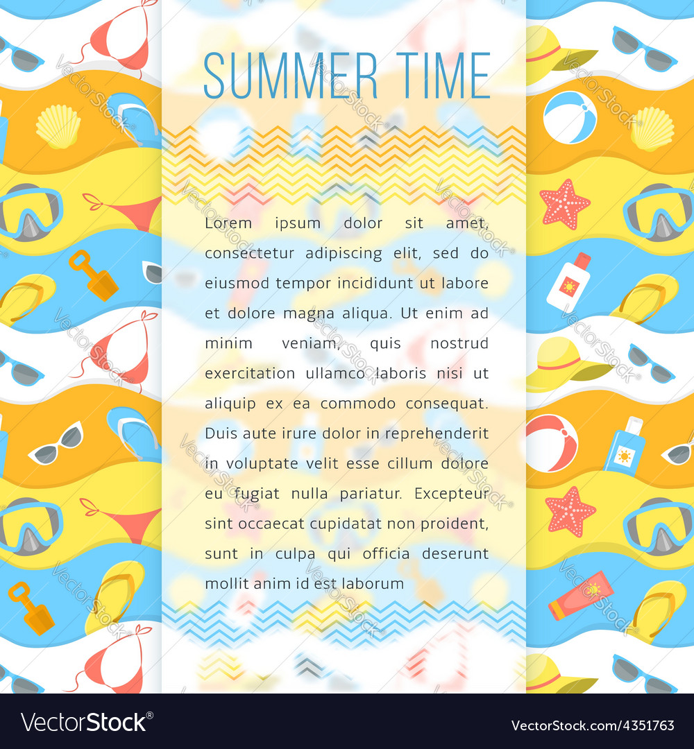 Summer holidays flyer template vector   Price: 1 Credit (USD $1)