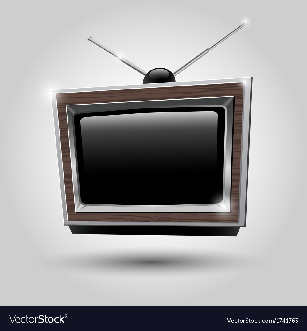 Tv frame tv antennas vector | Price: 1 Credit (USD $1)