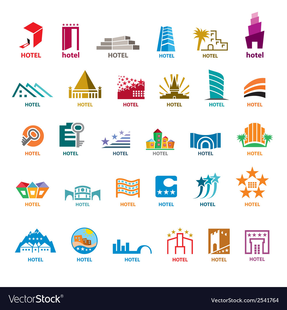 Biggest collection of logos buildings for leisure vector | Price: 1 Credit (USD $1)