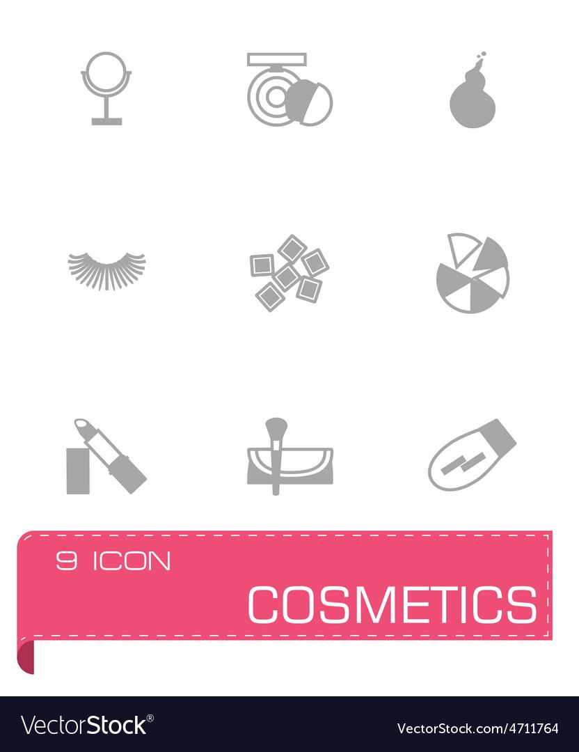 Cosmetics icon set vector | Price: 1 Credit (USD $1)
