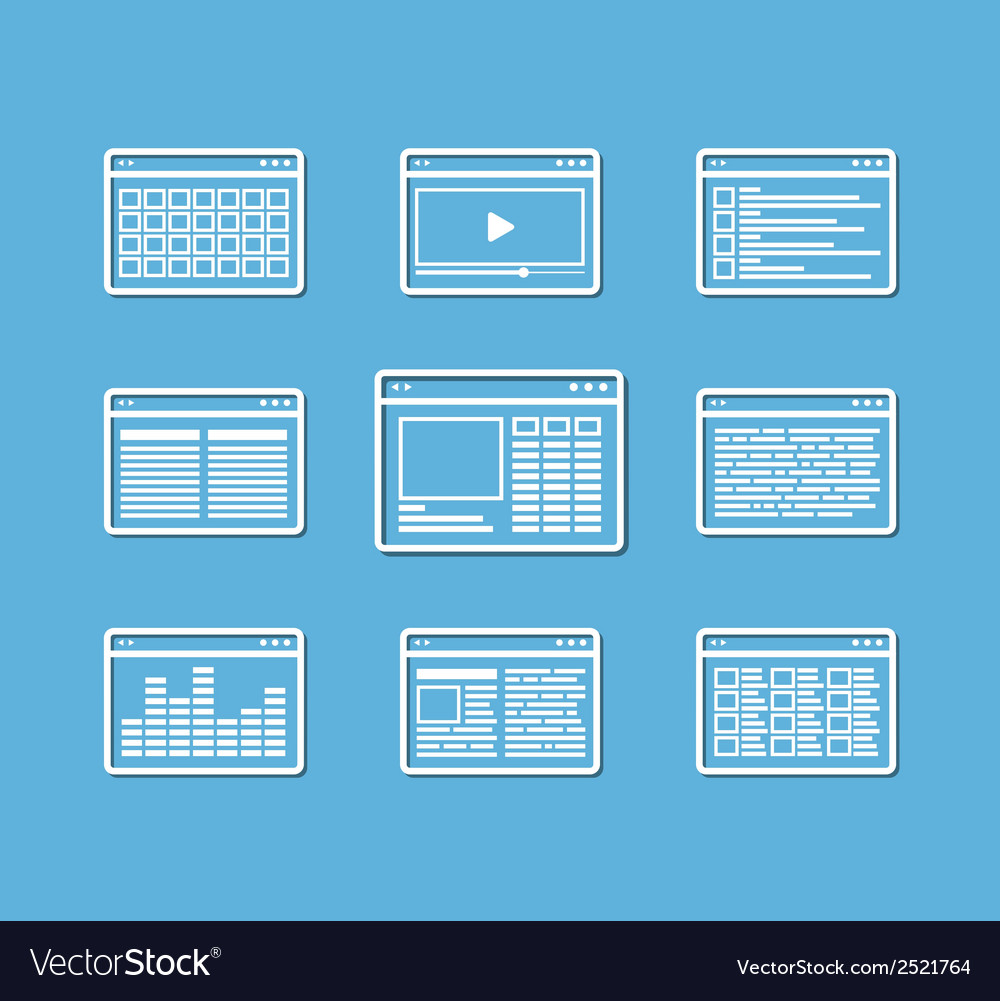 Different web browser icons se vector | Price: 1 Credit (USD $1)