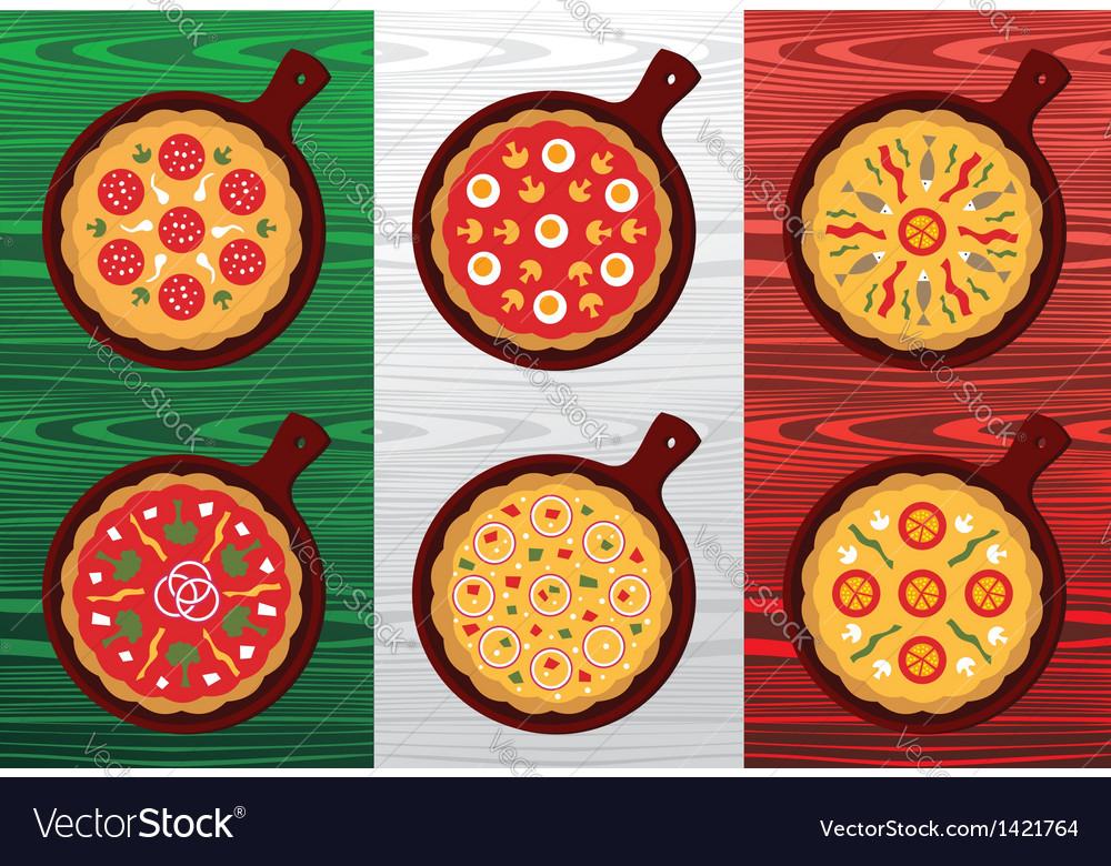 Italian pizza flavors vector   Price: 1 Credit (USD $1)