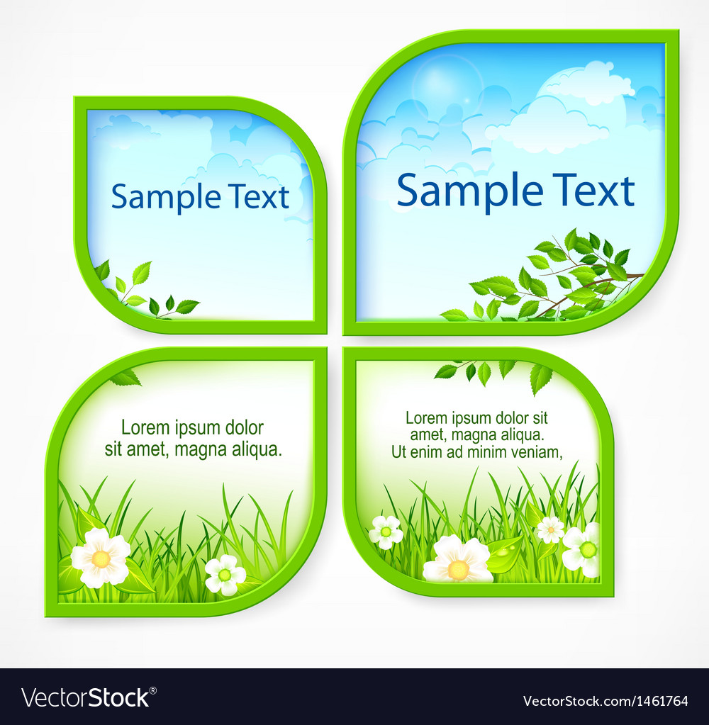 Nature spring banners vector | Price: 1 Credit (USD $1)