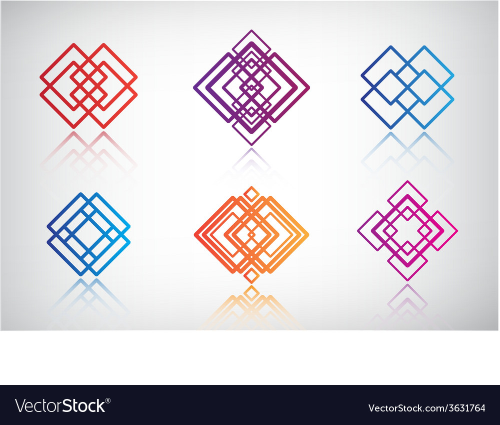 Set of abstract colorful icons logos vector | Price: 1 Credit (USD $1)