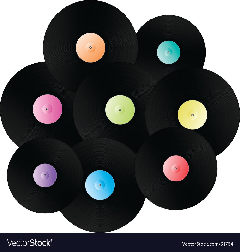 Vinyl records background vector | Price: 1 Credit (USD $1)
