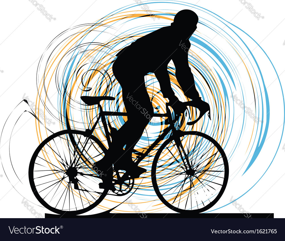 Biker in action vector | Price: 1 Credit (USD $1)