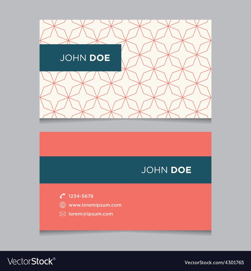 Business card pattern red 11 vector | Price: 1 Credit (USD $1)