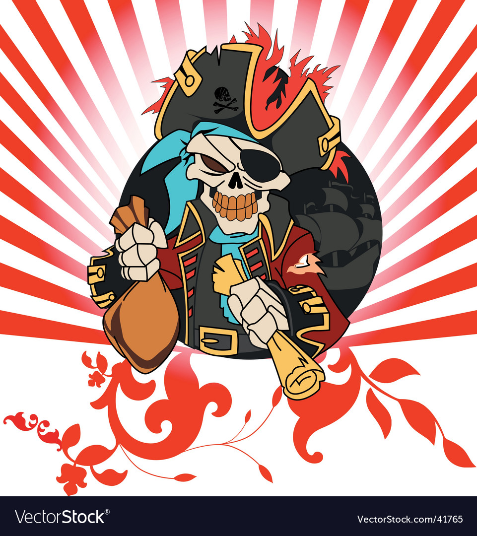 Captain pirate vector | Price: 1 Credit (USD $1)