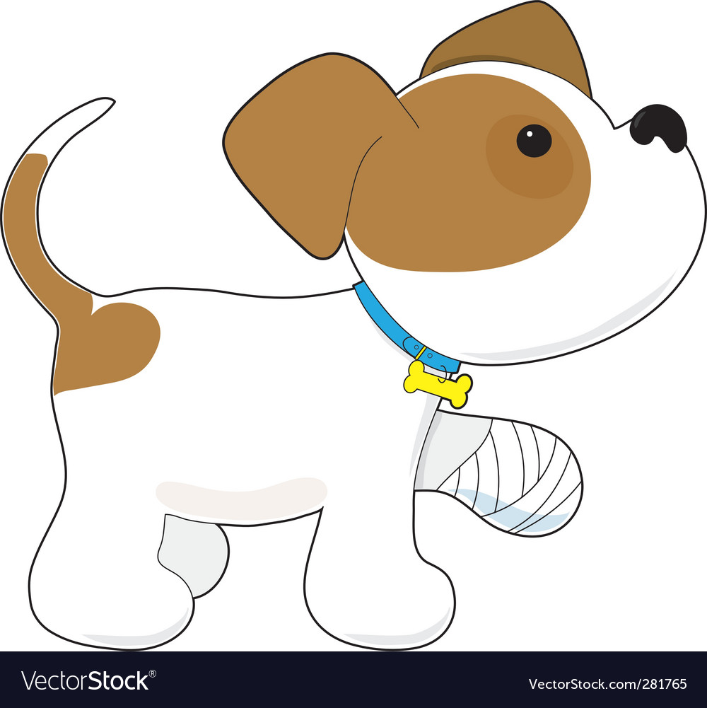 Cartoon puppy vector | Price: 1 Credit (USD $1)