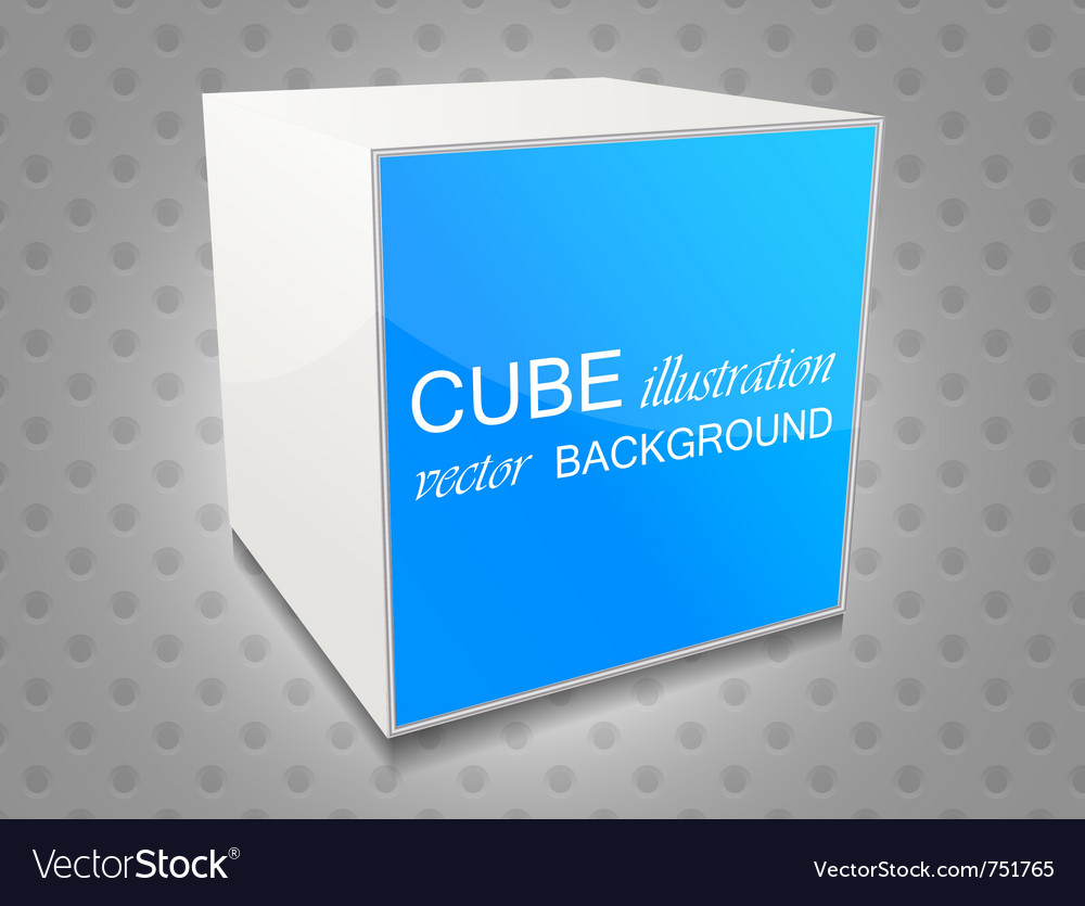 Cube background vector | Price: 1 Credit (USD $1)
