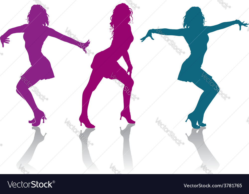 Girls dancing ladies dance vector | Price: 1 Credit (USD $1)