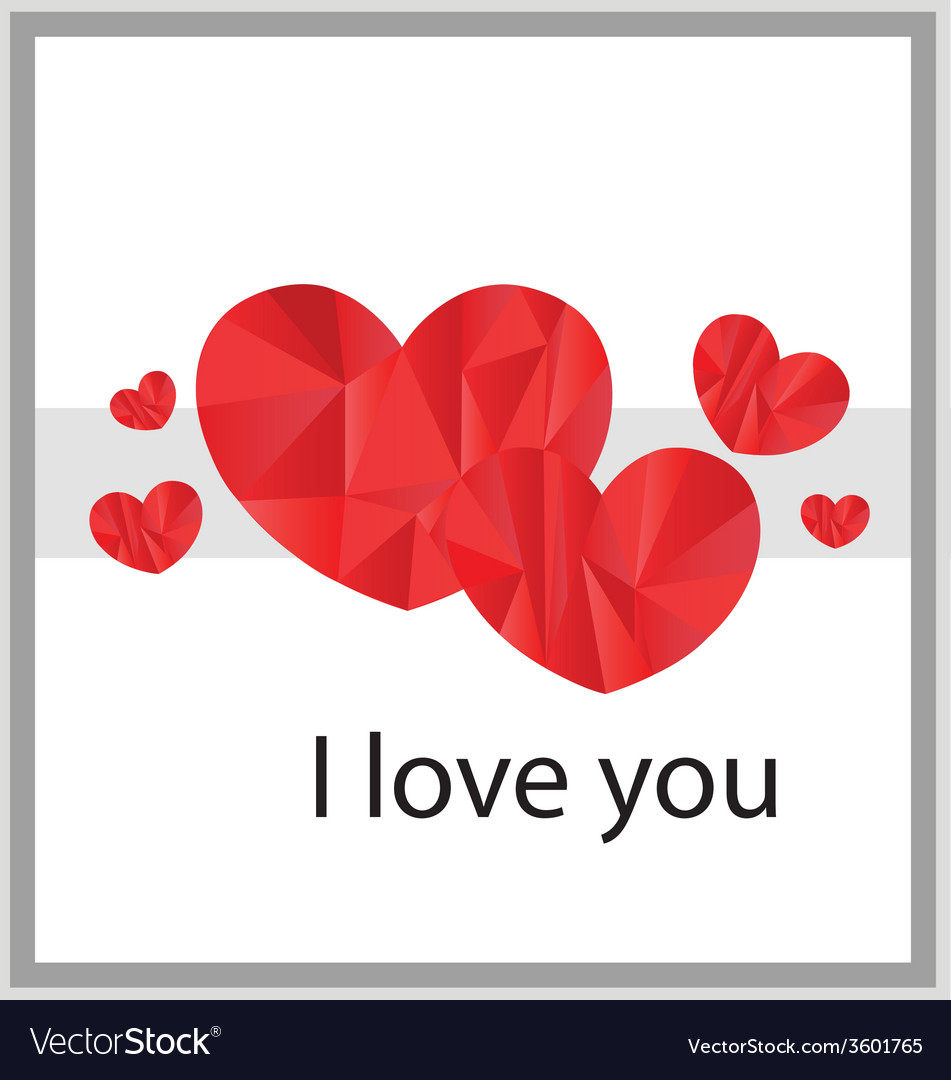 I love you card design vector | Price: 1 Credit (USD $1)