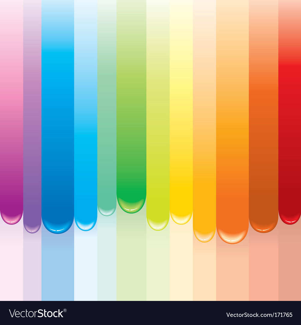 Paint rainbow vector | Price: 1 Credit (USD $1)