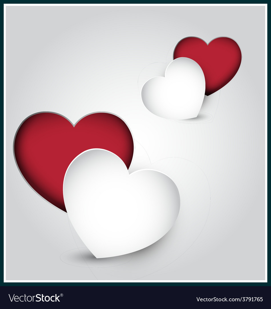 Paper hearts vector | Price: 1 Credit (USD $1)