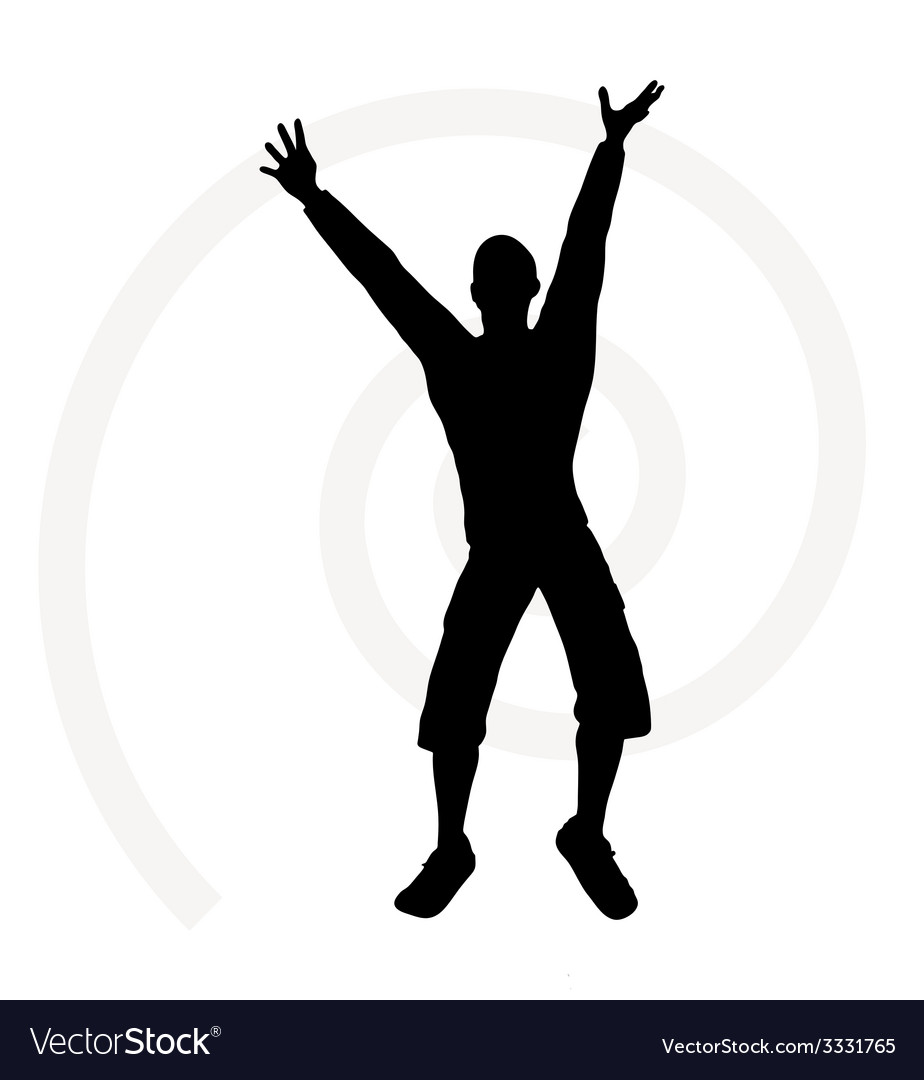 Senior climber man silhouette vector | Price: 1 Credit (USD $1)