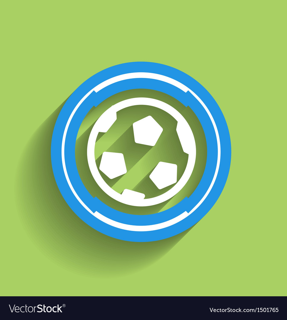 Soccer ball icon flat modern icon vector | Price: 1 Credit (USD $1)