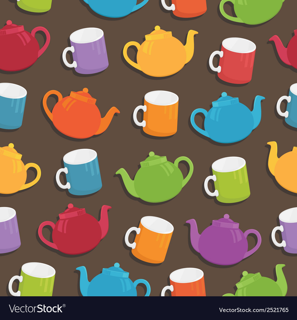 Teapot pattern vector | Price: 1 Credit (USD $1)