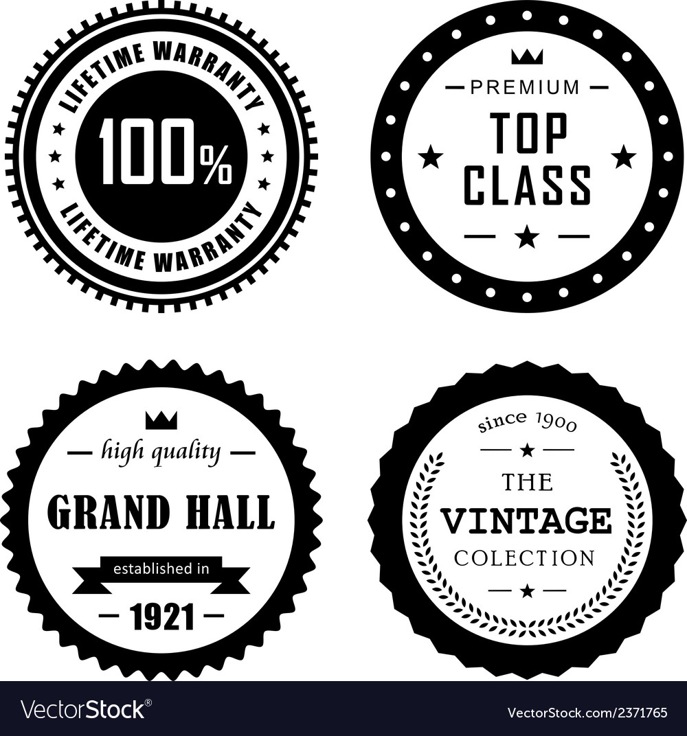 Vintage badges 4 vector | Price: 1 Credit (USD $1)