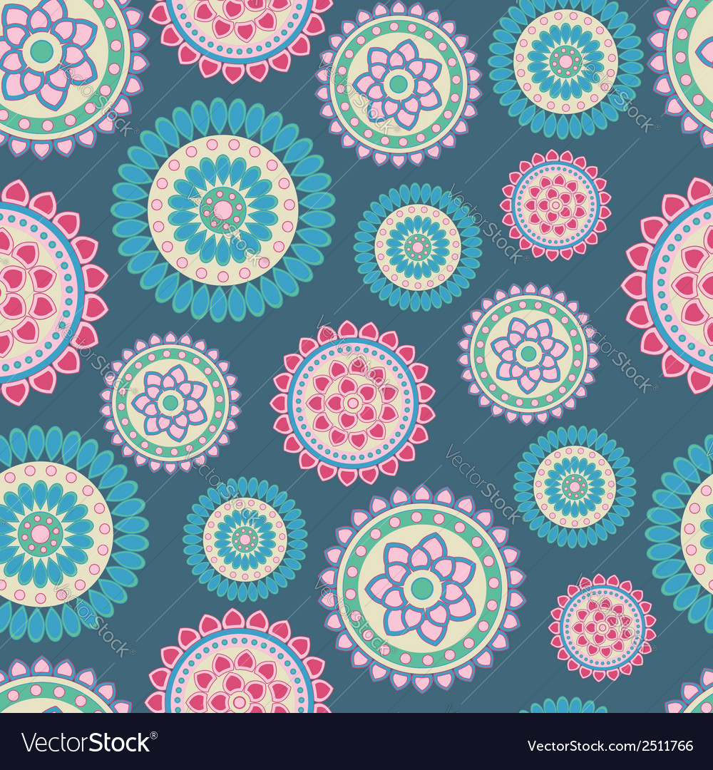 Abstract flower pattern vector | Price: 1 Credit (USD $1)