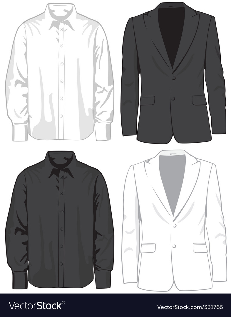 Coats and shirts vector | Price: 1 Credit (USD $1)