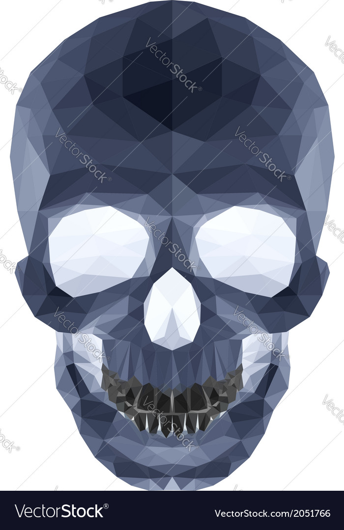 Dark crystal skull vector   Price: 1 Credit (USD $1)