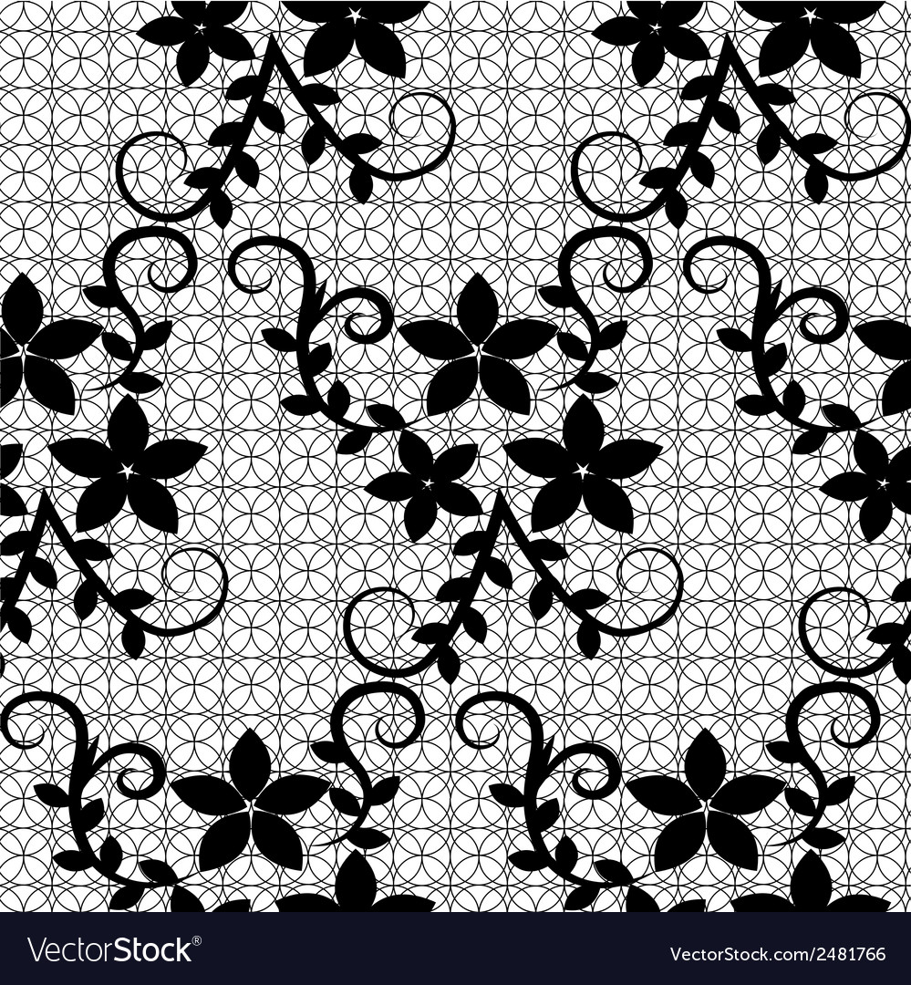 Floral lace pattern vector   Price: 1 Credit (USD $1)