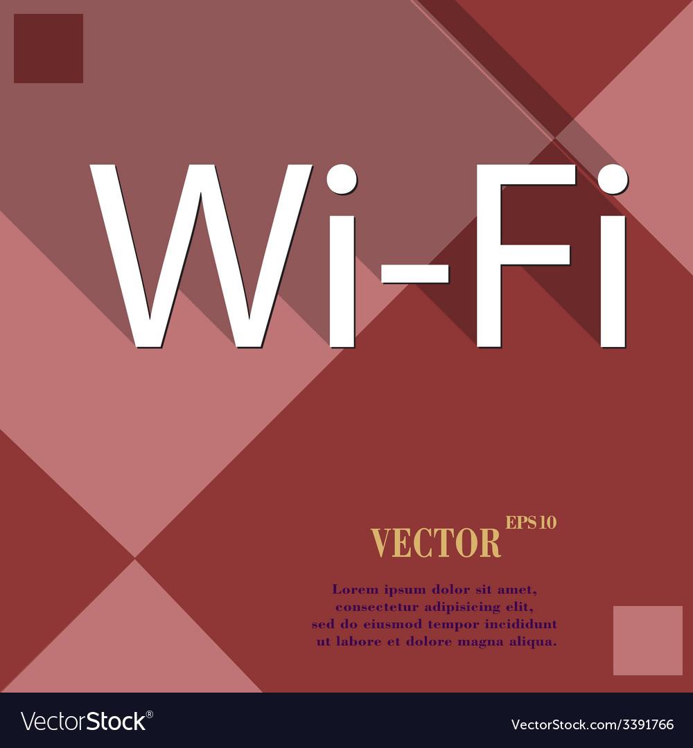 Free wifi icon symbol flat modern web design with vector   Price: 1 Credit (USD $1)