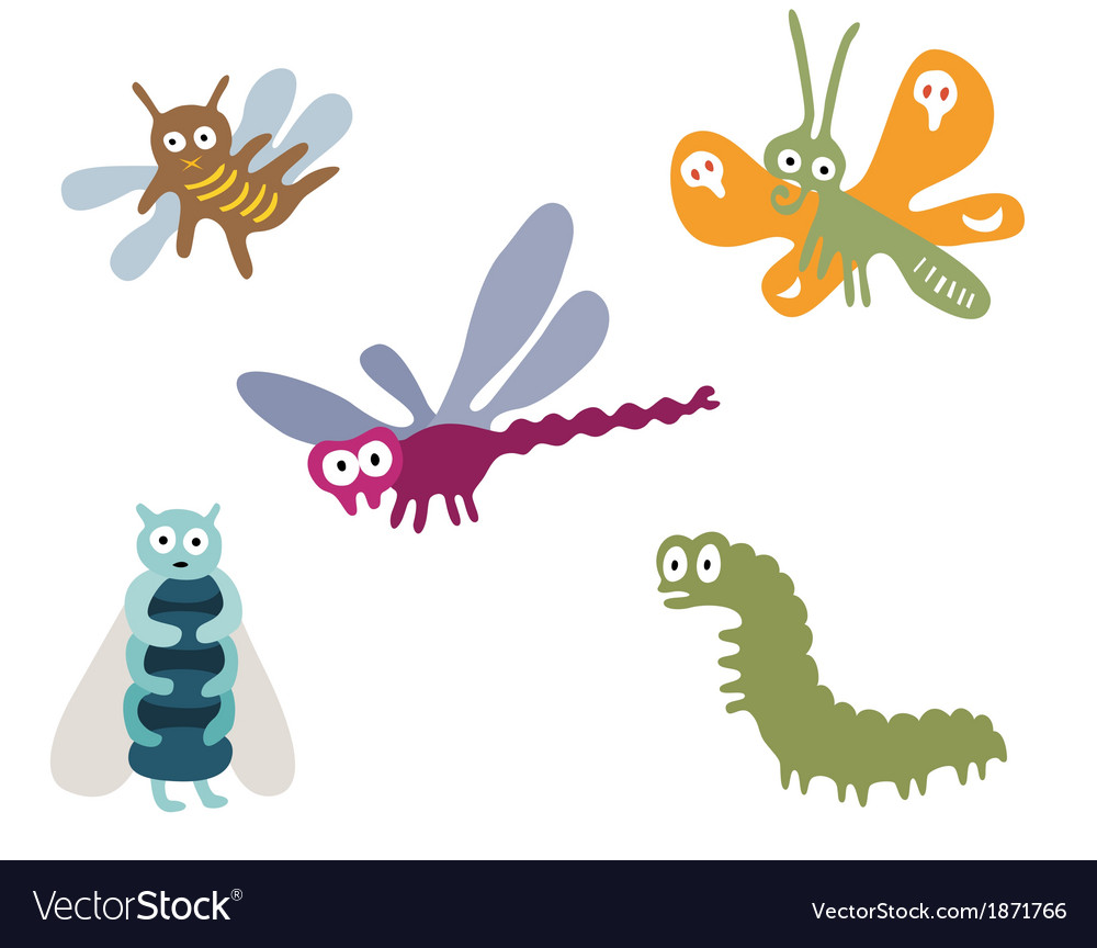 Googly eyed insects vector | Price: 1 Credit (USD $1)