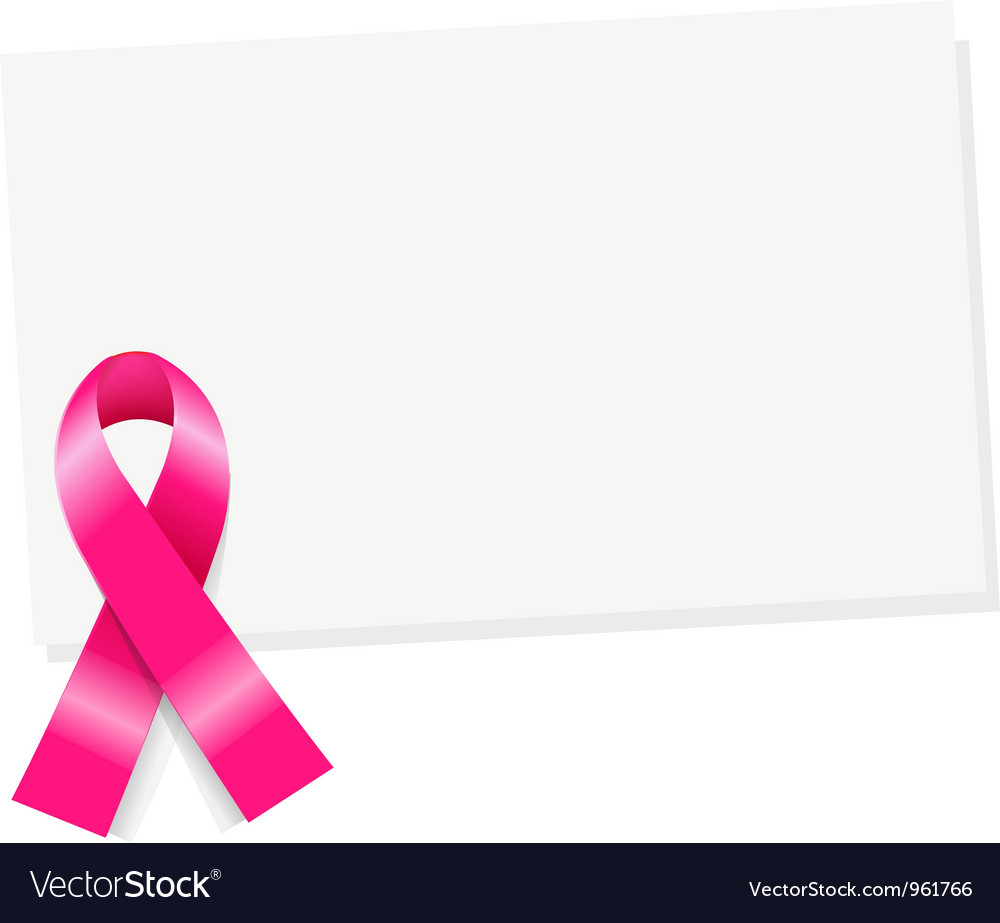 Pink ribbon note vector | Price: 1 Credit (USD $1)