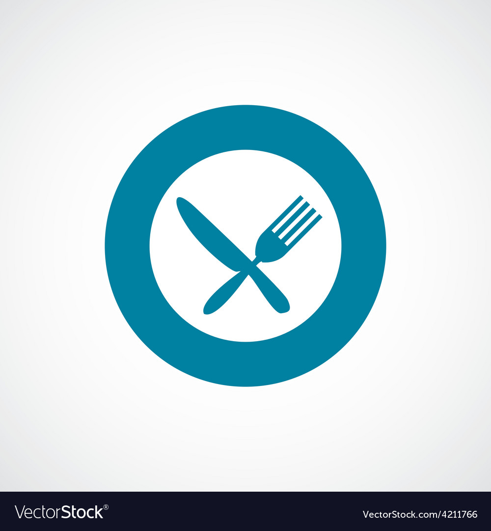 Restaurant icon bold blue circle border vector | Price: 1 Credit (USD $1)