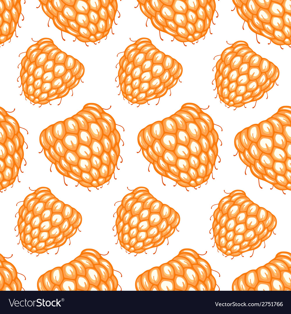 Seamless pattern with decorative raspberries vector   Price: 1 Credit (USD $1)