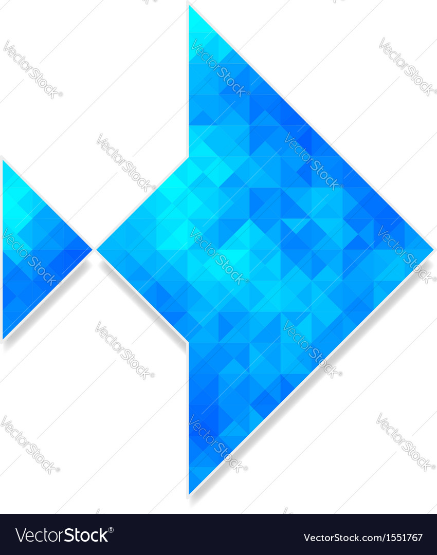 Abstract polygonal fish isolated on white vector | Price: 1 Credit (USD $1)