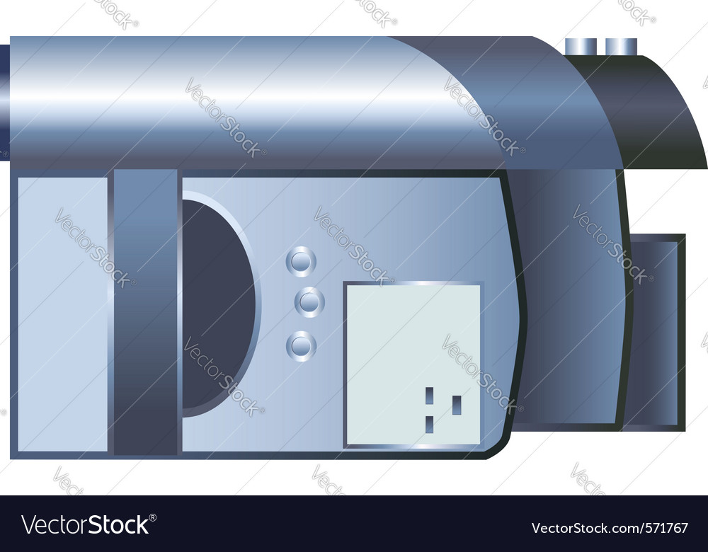 Digital video camera vector | Price: 1 Credit (USD $1)