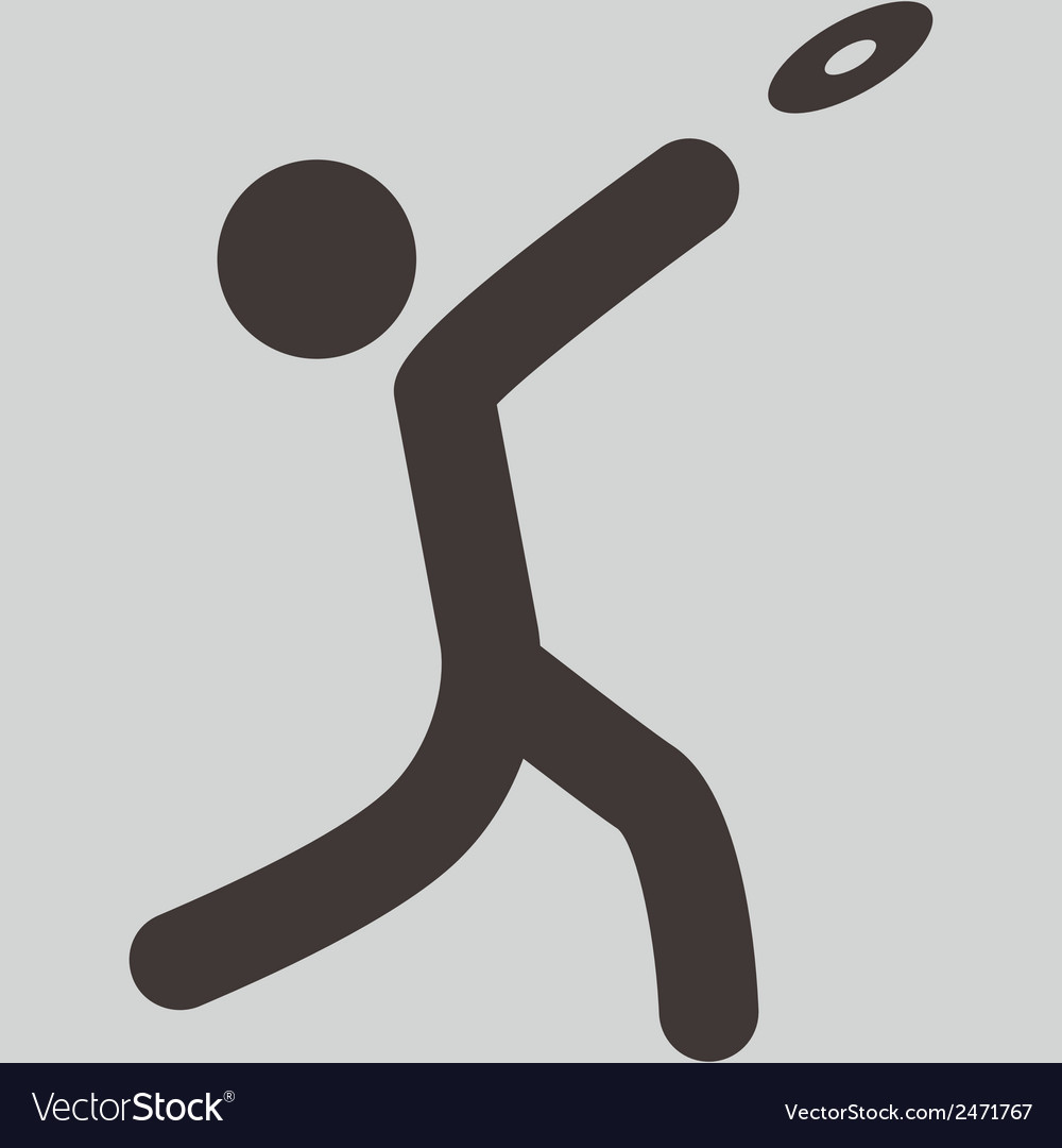 Discus throw icon vector | Price: 1 Credit (USD $1)