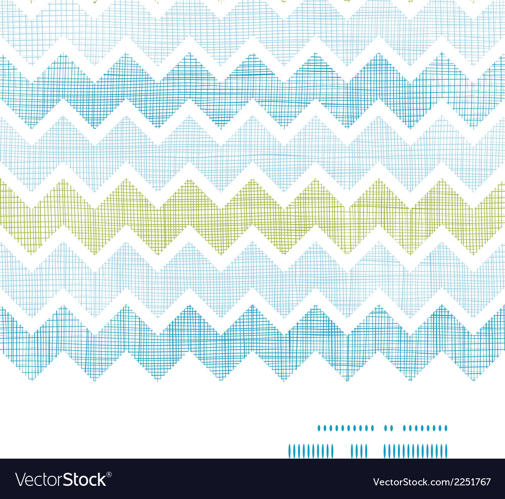 Fabric textured chevron stripes horizontal frame vector | Price: 1 Credit (USD $1)